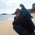 Lale y Rifii y en la playa